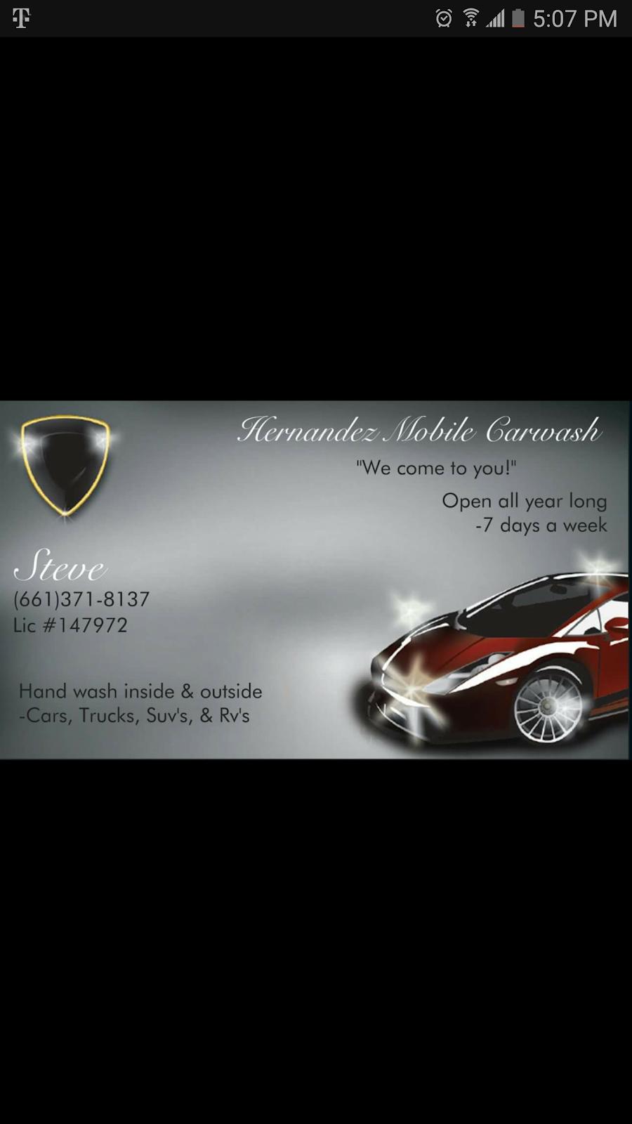 Hernandez Mobile Carwash - car wash    Photo 1 of 1   Address: 0000, Bakersfield, CA 93306, USA   Phone: (661) 371-8137