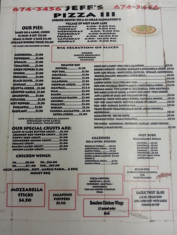 Jeffs Pizza III - meal takeaway  | Photo 10 of 10 | Address: 4339 NY-150, West Sand Lake, NY 12196, USA | Phone: (518) 674-3456