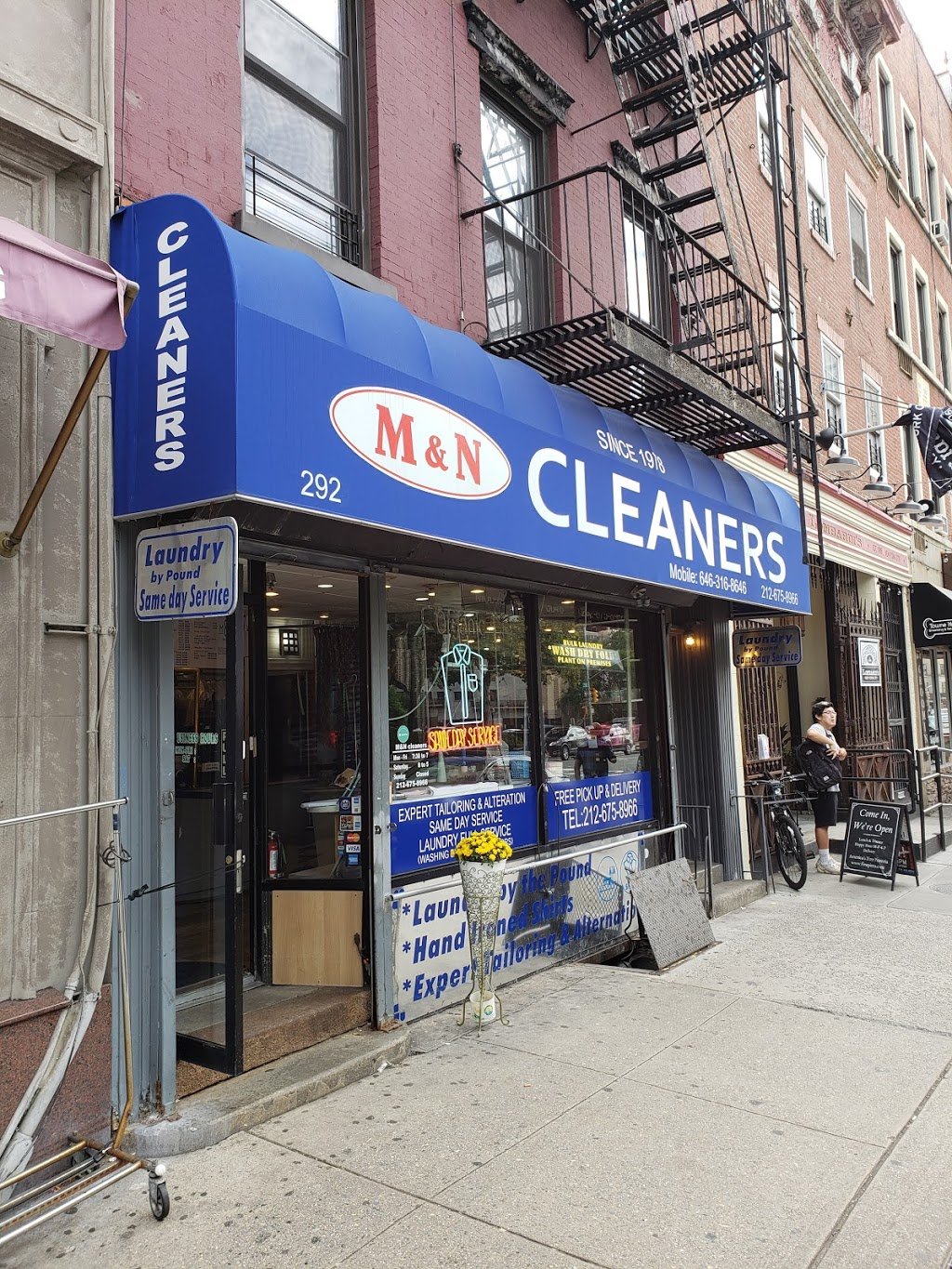 M & N Cleaners | laundry | 292 8th Ave, New York, NY 10001, USA | 2126758966 OR +1 212-675-8966