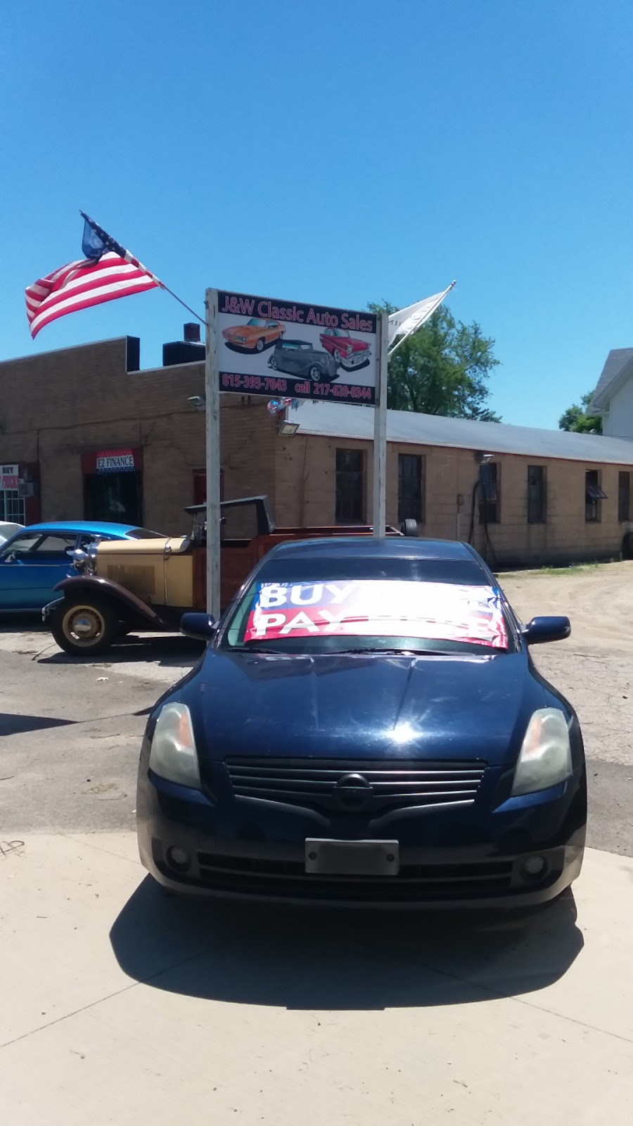 J&W Classic Auto Sales Ez Financing and auto repair | car dealer | 117 E Roosevelt St, Stillman Valley, IL 61084, USA | 2176208344 OR +1 217-620-8344