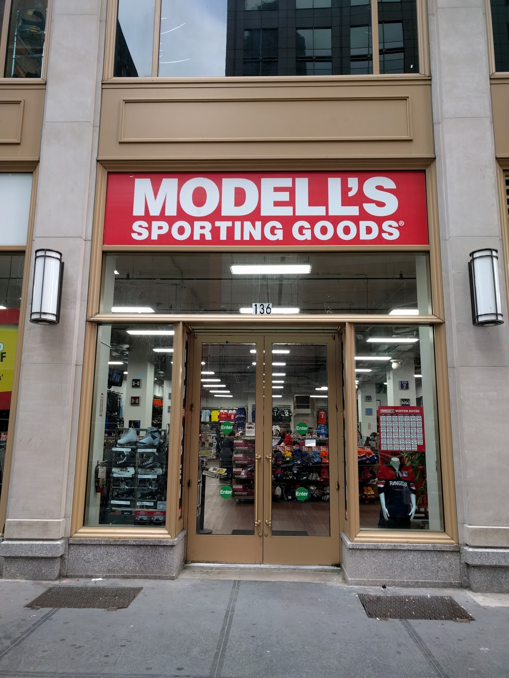 Modells Sporting Goods   store   234 W 42nd St, New York, NY 10036, USA   8002756633 OR +1 800-275-6633