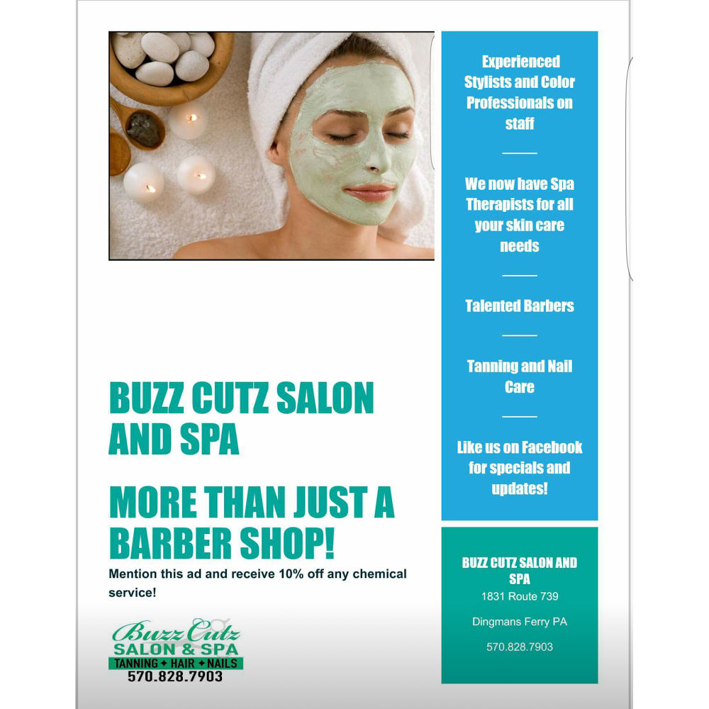 Buzz Cutz Salon and Spa - hair care    Photo 5 of 10   Address: 1831 PA-739, Dingmans Ferry, PA 18328, USA   Phone: (570) 828-7903