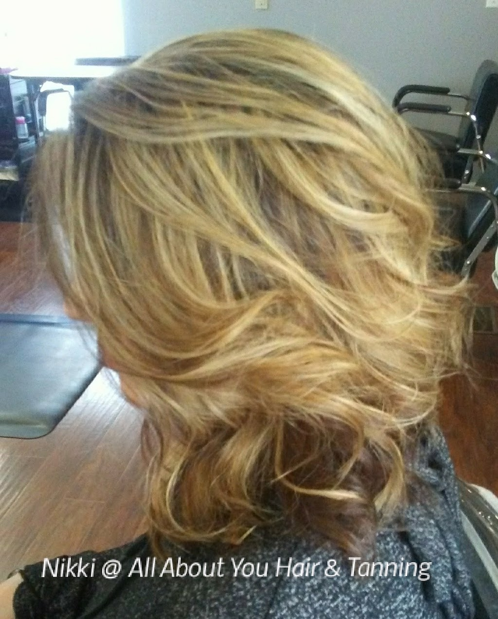 Nikki at All About You Hair Salon and Tanning - hair care    Photo 1 of 10   Address: 9075 1200 N, De Motte, IN 46310, USA   Phone: (765) 761-7119