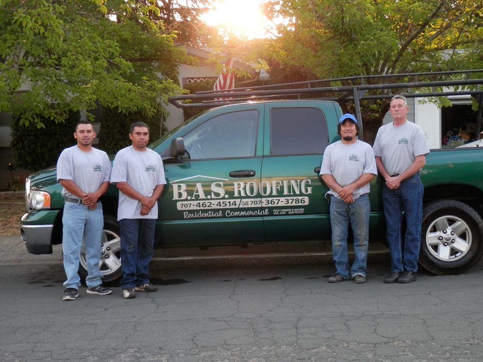 BAS Roofing Inc   roofing contractor   425 Pomo Dr, Ukiah, CA 95482, USA   7074624514 OR +1 707-462-4514