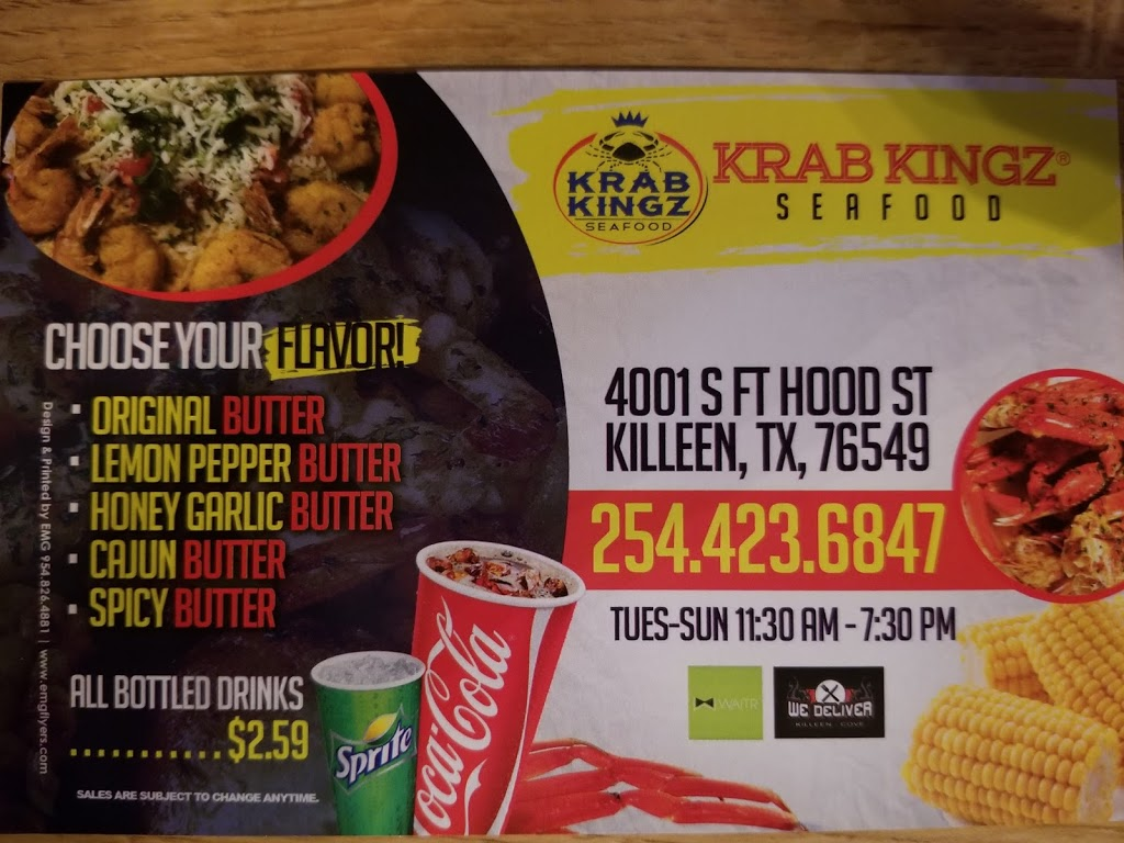 Krab Kingz | restaurant | 13178 S Fort Hood St, Killeen, TX 76542, USA | 2544236847 OR +1 254-423-6847