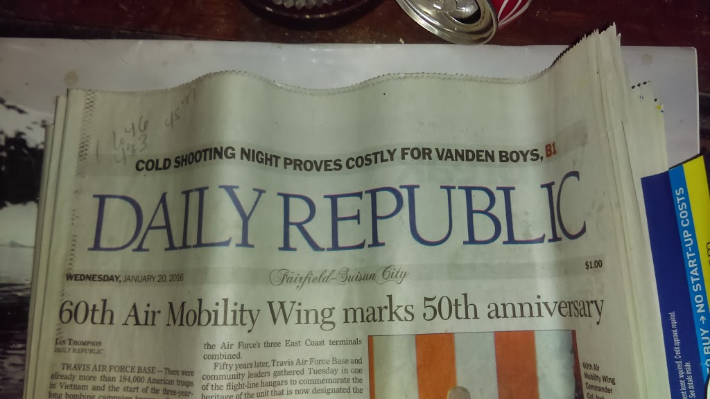 Daily Republic - store    Photo 8 of 10   Address: 1250 W Texas St, Fairfield, CA 94533, USA   Phone: (707) 427-6989