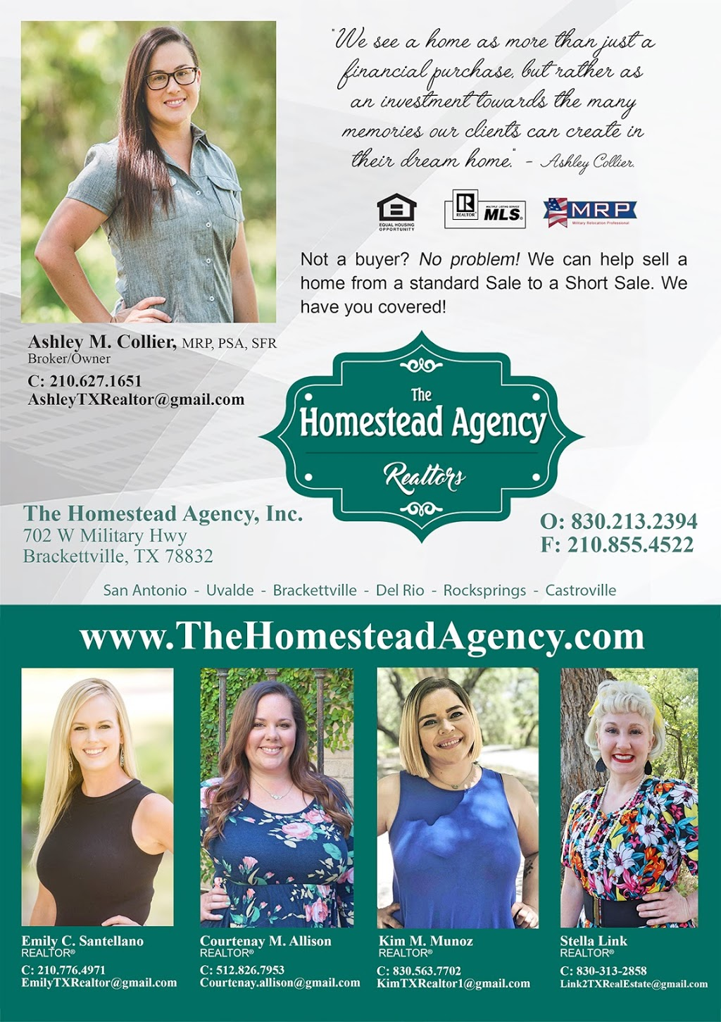 The Homestead Agency, Inc. - real estate agency  | Photo 2 of 4 | Address: 702 W Military Hwy, Brackettville, TX 78832, USA | Phone: (830) 213-2394