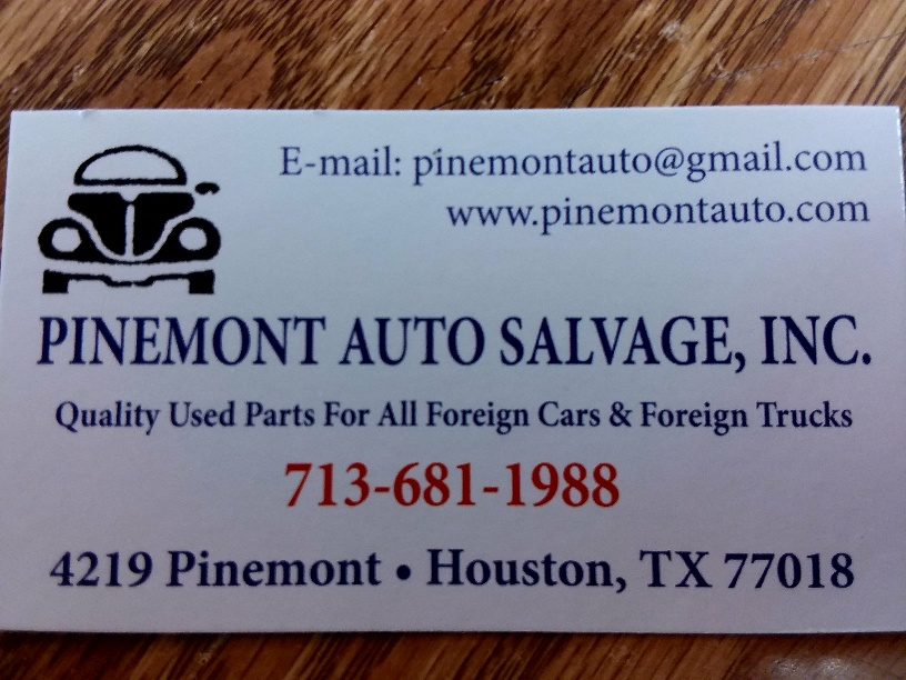 Pinemont Auto Salvage, Inc. - car repair  | Photo 9 of 10 | Address: 4219 Pinemont Dr, Houston, TX 77018, USA | Phone: (713) 681-1988